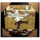 Fat Chef Framed Wall Picture Shadowbox Chefs Kitchen Decor