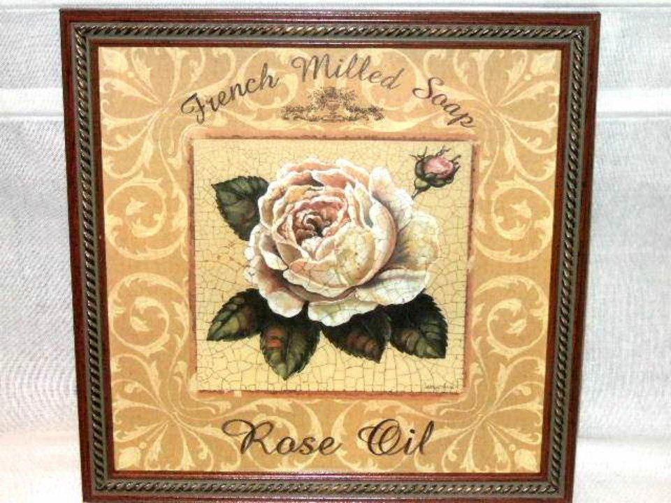 Home Interiors Rose Oil French Soap Framed Print