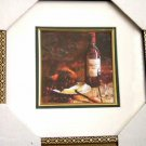 Wine Grapes and Cheese Framed Print Wall Decor