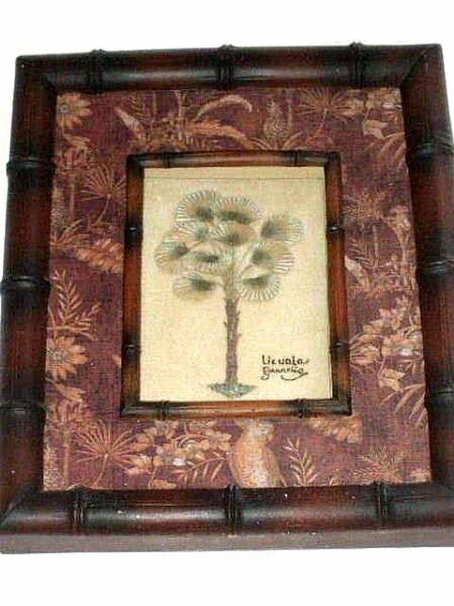 Palm Tree Print Tropical Shadowbox Hawaiian Decor