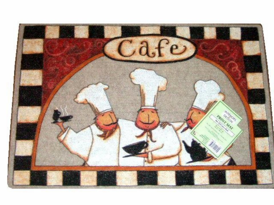 Fat Chefs Cafe Kitchen Rug