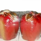 Ceramic Apples Salt and Pepper Shakers Apple Kitchen Decor