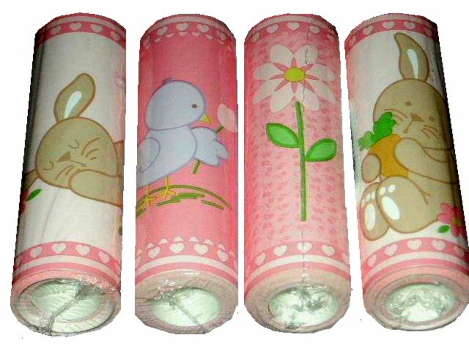 Nursery Wall Border Bunnies and Chicks Floral Wallpaper