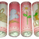 Nursery Wall Border Bunnies and Chicks Floral Wallpaper