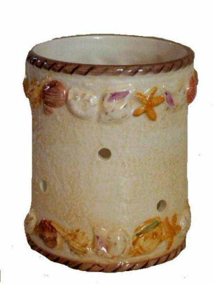 Large Ceramic Seashells Candle Holder
