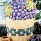 Grapes Cookie Jar Canister Grape Kitchen Decor