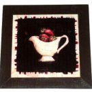 Wood and Tile Strawberries Kitchen Trivet