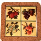 Ceramic Fruit Trivet Apples Grapes Pears Peaches