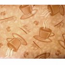 Beige Brown Coffee Cups Tablecloth Cappuccino Mocha