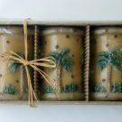 Tropical Palm Trees Candles Set