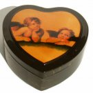 Heart Shaped Angels Keepsake Box