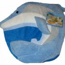 Blue Dolphin Toilet Lid Cover Beach Bath Decor