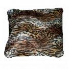 Animal Prints Pillow Faux Fur African Safari Decor