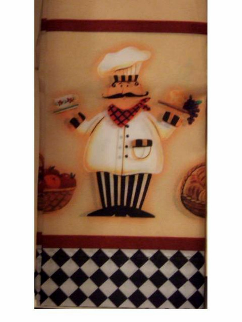 Chef Kitchen Curtains Set