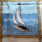 2 Nautical Sailboats Pillow Cases