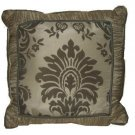 Cream Gray Floral Medallion Decorative Toss Pillow