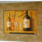 Tuscan Wine Glasses Corkscrew Print Wall Decor