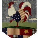 Patriotic Rooster Fabric Table Runner