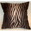 Zebra Stripe Decorative Toss Pillow
