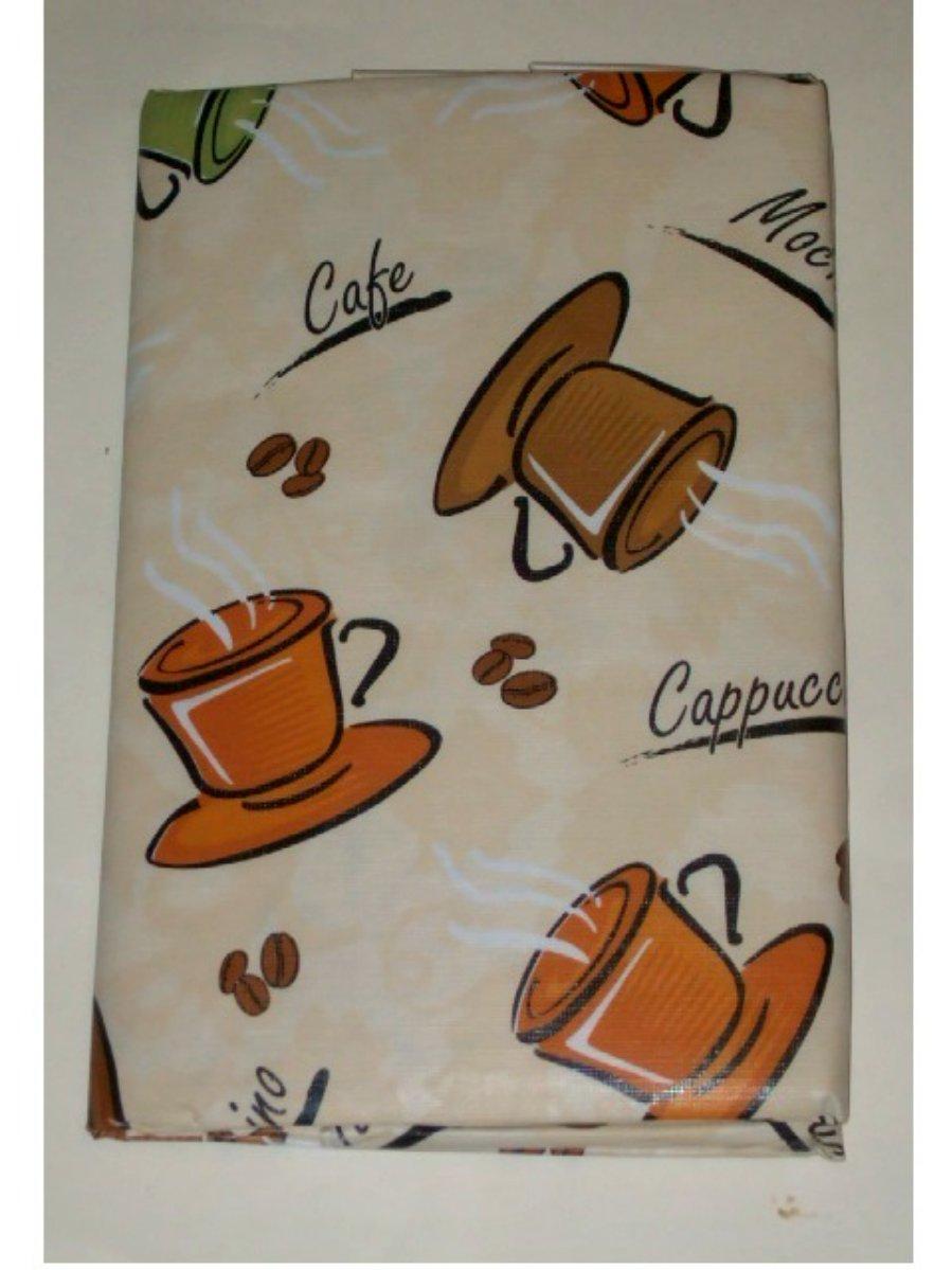 Coffee Themed Tablecloth Cappuccino Mocha Cafe