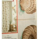 Seashells Fabric Shower Curtain Beach Decor