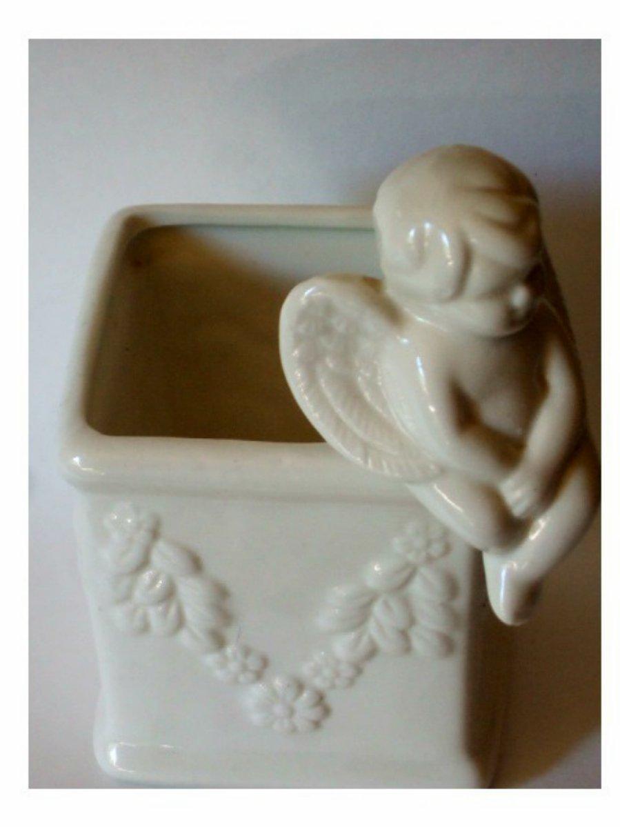 Ceramic Angel Planter