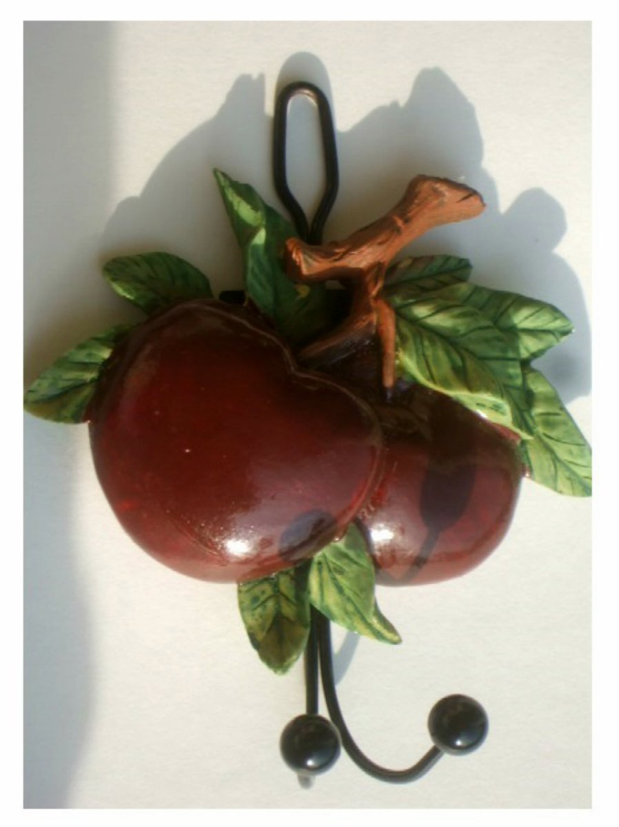 Country Apples Wall Hook