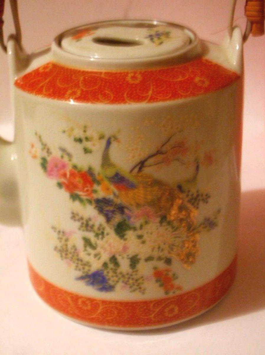 Oriental Teapot Satsuma Asian Decor