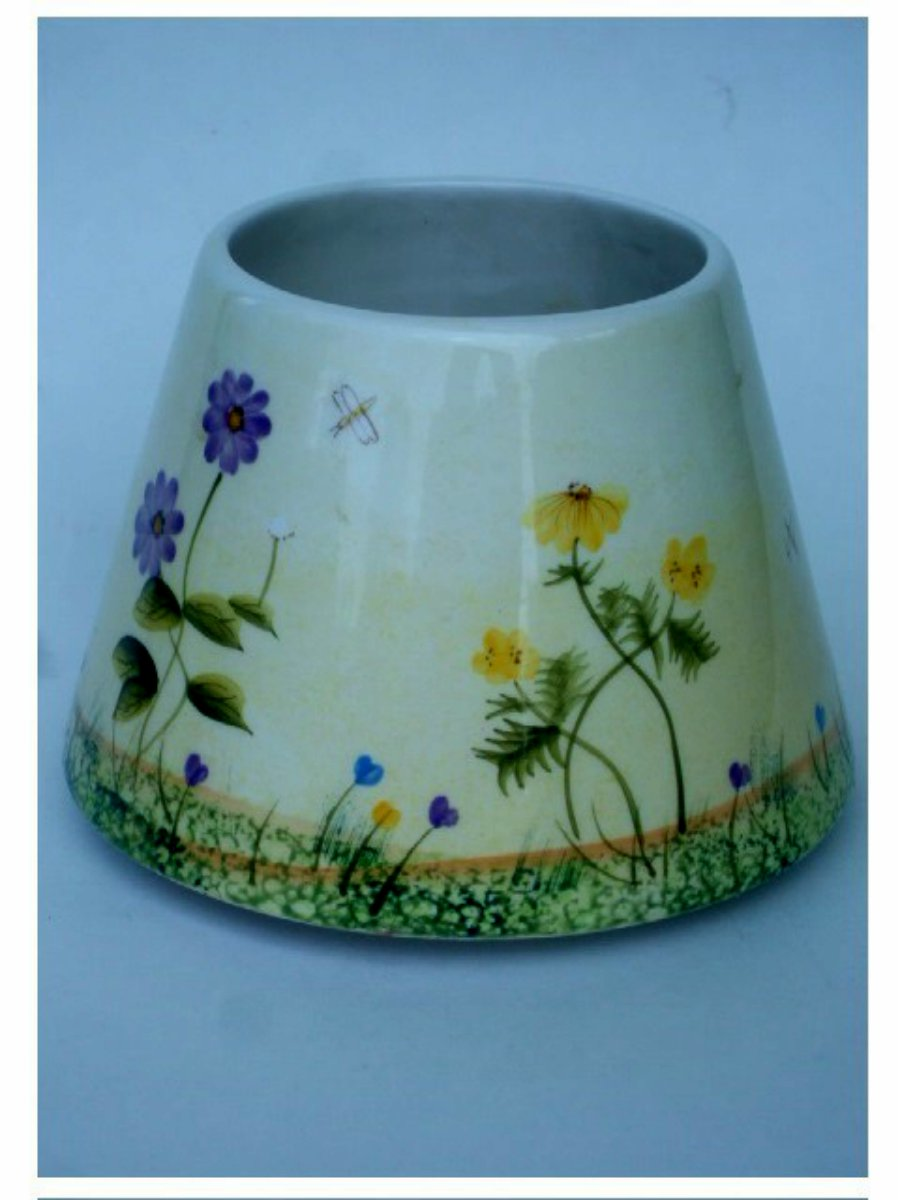 Floral Home Interiors Ceramic Candle Shade Topper