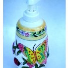 Butterfly Lady Bug Bee Ceramic Lotion Pump Soap Dispenser