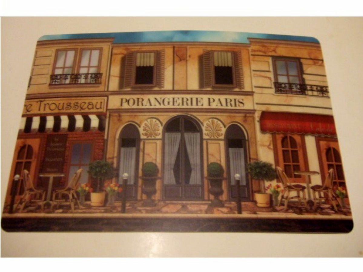 French Paris Cafes Placemats Set