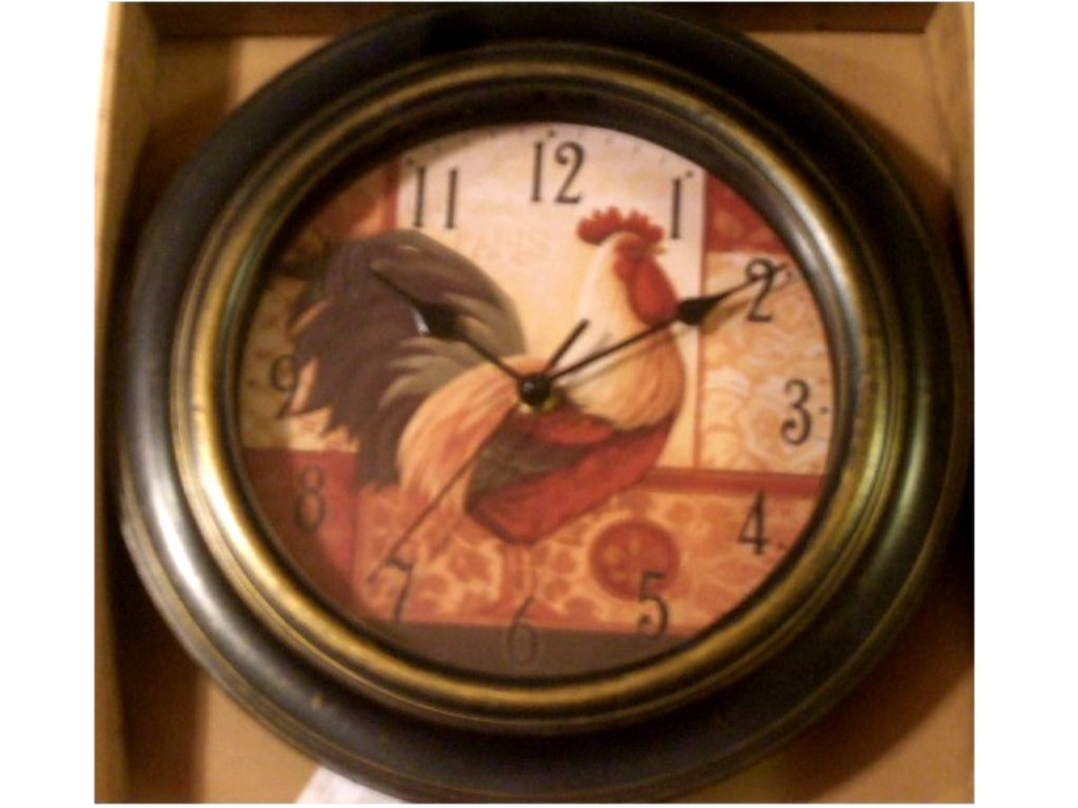 French Rooster Kitchen Wall Clock