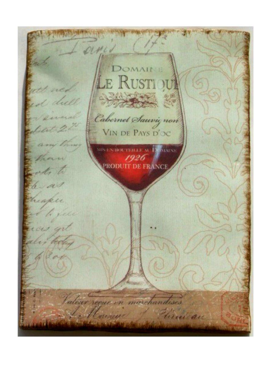 Wine Glass Paris France Plaque Wall Decor