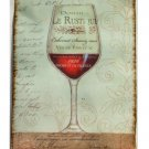 Wine Glass Paris France Plaque Wall Decor