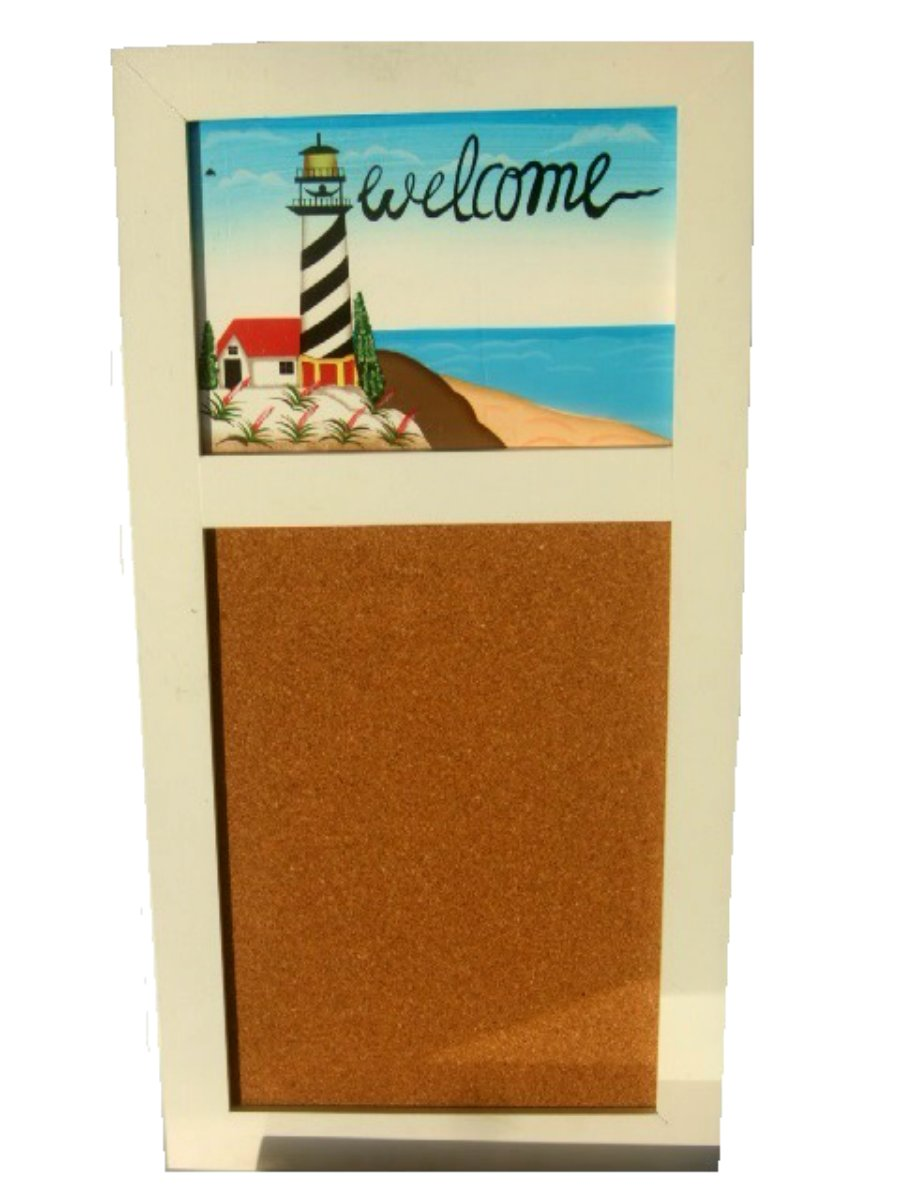 Lighthouse Message Memo Board Beach Decor