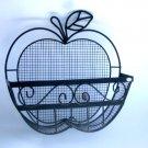Metal Apple Shaped Wall Basket