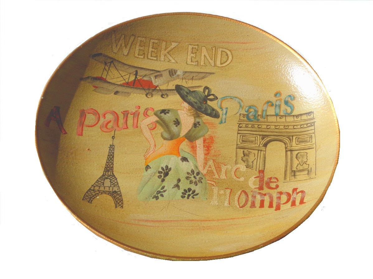 Eiffel Tower Paris French Decorative Plate