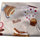 Coffee Cups Tablecloth Mocha Espresso House Blend