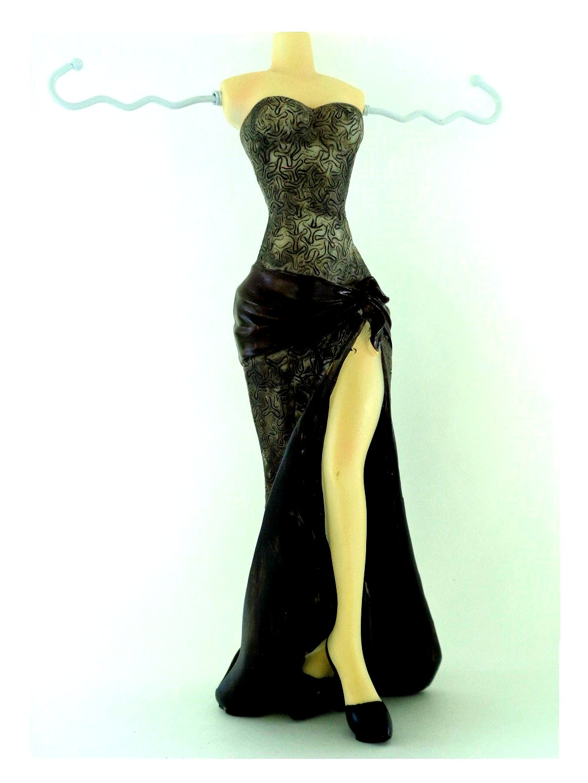 Black Dress Jewelry Holder
