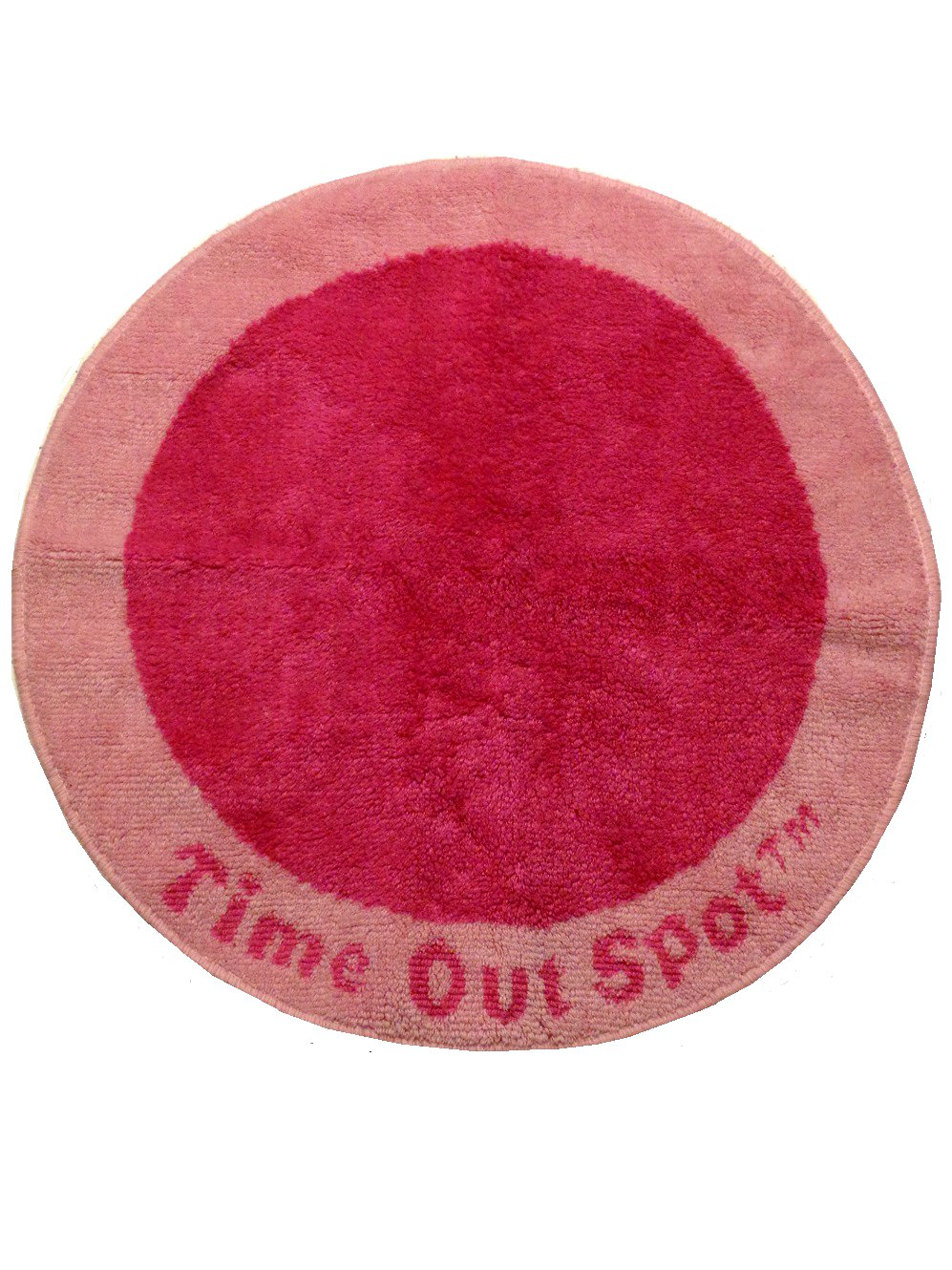 Toddler Child Time Out Rug Round Pink Mat