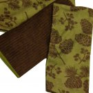 Pinecones Pine Branches Nature Kitchen Towels Set