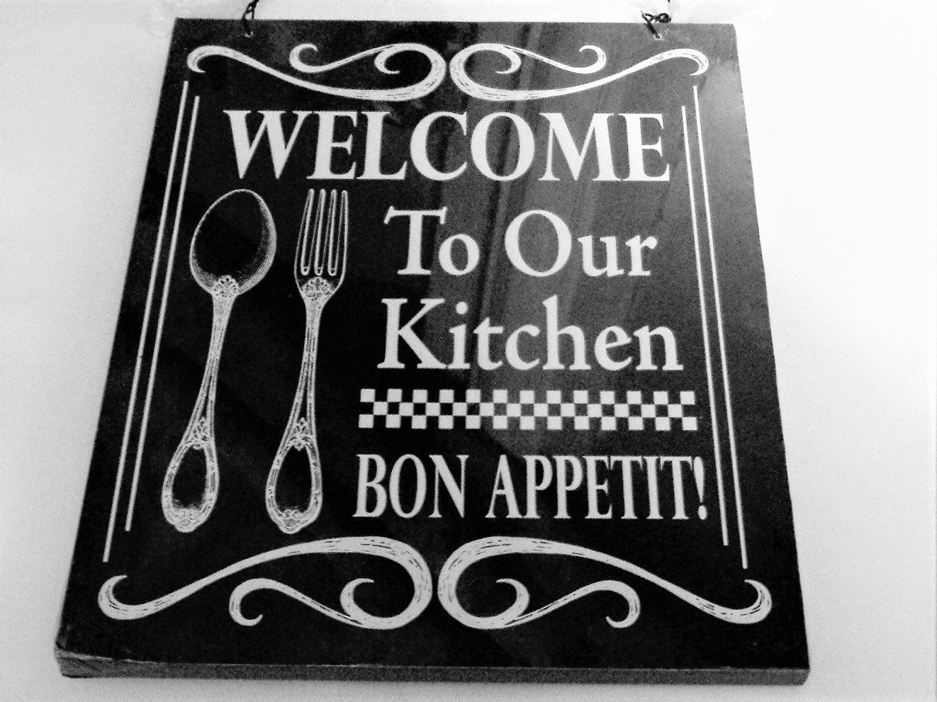 Welcome Kitchen Sign Bon Appetit Plaque