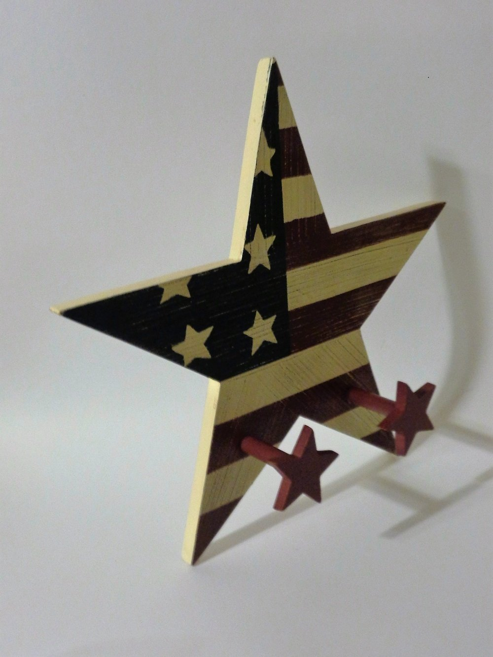 Americana Stars and Stripes Wall Hook Home Interiors