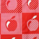 Red Apples Vinyl Tablecloth Round Apple Table Topper