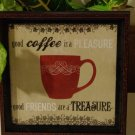 Coffee Cup Kitchen Sign Wall Plaque
