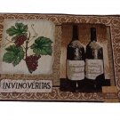 Grapes Wine Bottles Tapestry Placemats Set