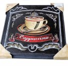 Cappuccino Coffee Cup Mirror Kitchen Wall Art