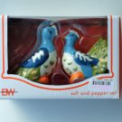 Peacock Salt Pepper Shakers Set Ceramic