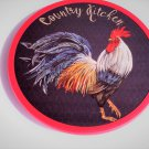 Country Rooster Lazy Susan Wood