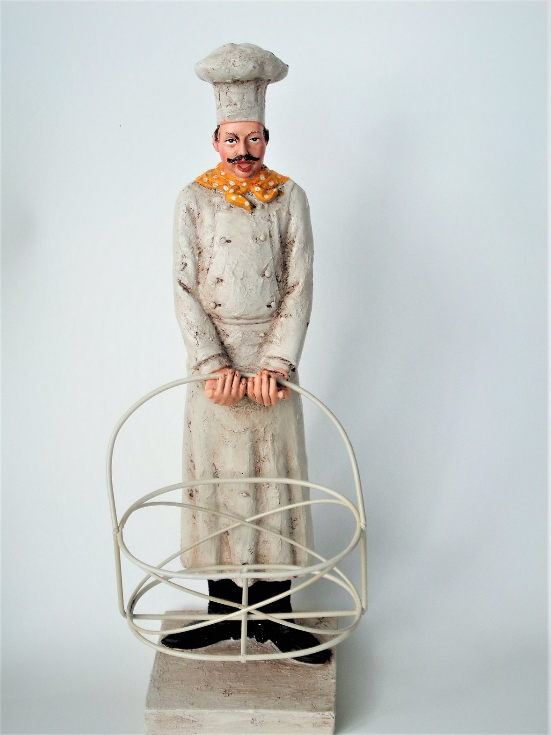 French Chef Figurine With Basket